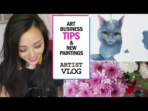 Art business tips & NEW paintings // ARTIST VLOG 20