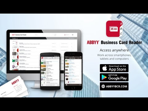 Business card reader free business card scanner apps on google play abbyy business card reader scans and manages all your business cards and contacts in a flash recommended by the new york times cnn the telegraph reheart Images