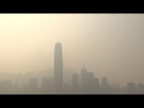Poluição 'engole' Hong Kong