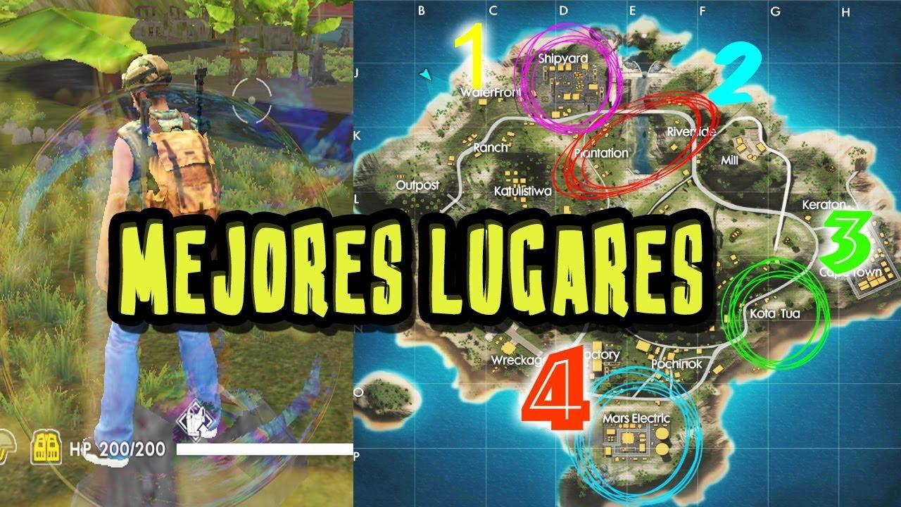 MEJORES LUGARES PARA CAER Y LOTEAR EN FREE FIRE/ ROMERSOBI - YouTube