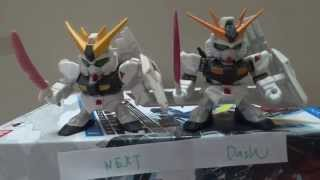 comparison of sd gundam gashapon senshi dash new and next old sd高達