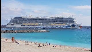 Cruise ship AIDAnova 4K 2019 AIDA Kreuzfahrten