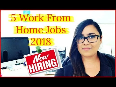 5 Best Work From Home Jobs That Are Hiring 2018 - Make $500 A Day Online