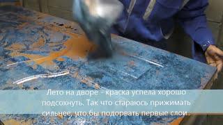 Покраска дверей в стиле под - камень малахит - Door painting in the style of stone malachite(, 2015-07-07T18:56:55.000Z)