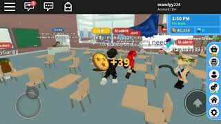 ROBLOX high school 2 feat thedreamynoob vlogmas (roblox style ) day 18 || mandyy224