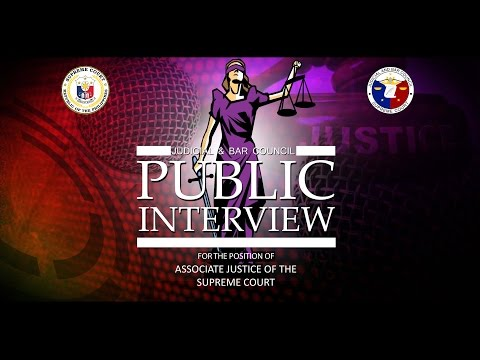 JBC Public Interview for the position of Associate Justice Day 1 - AM