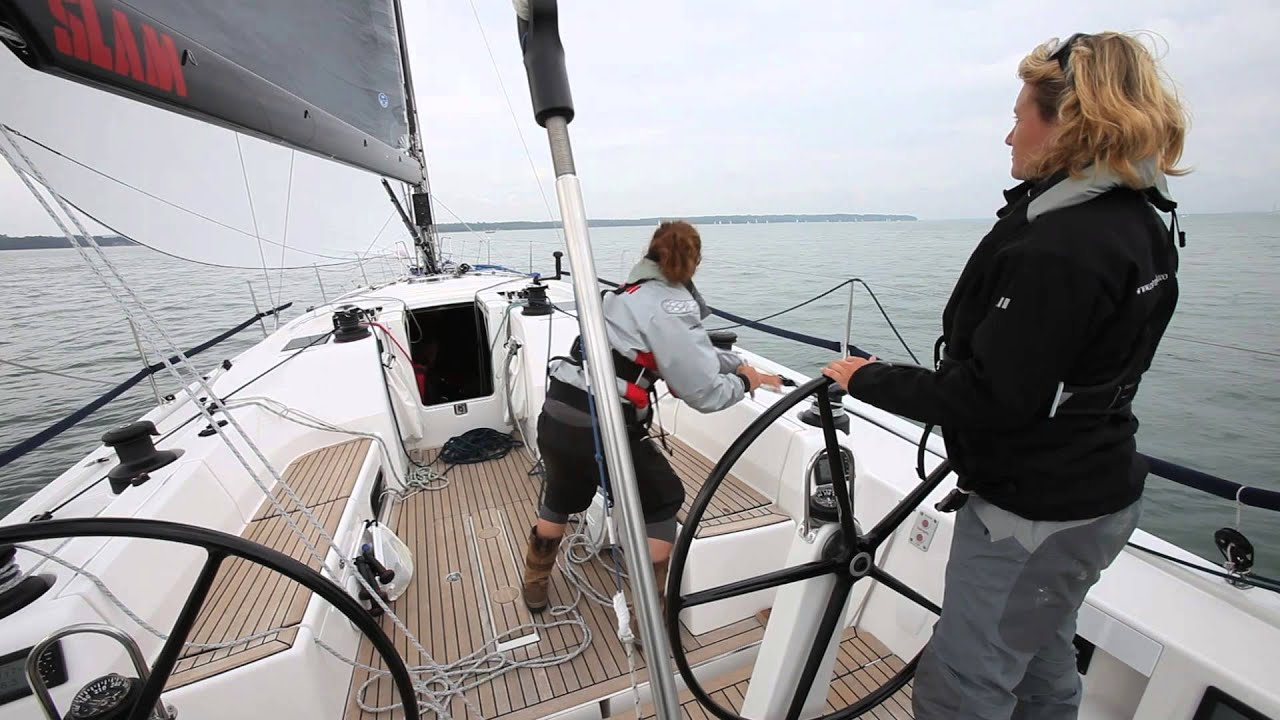 How to gybe a spinnaker fully crewed and short-handed