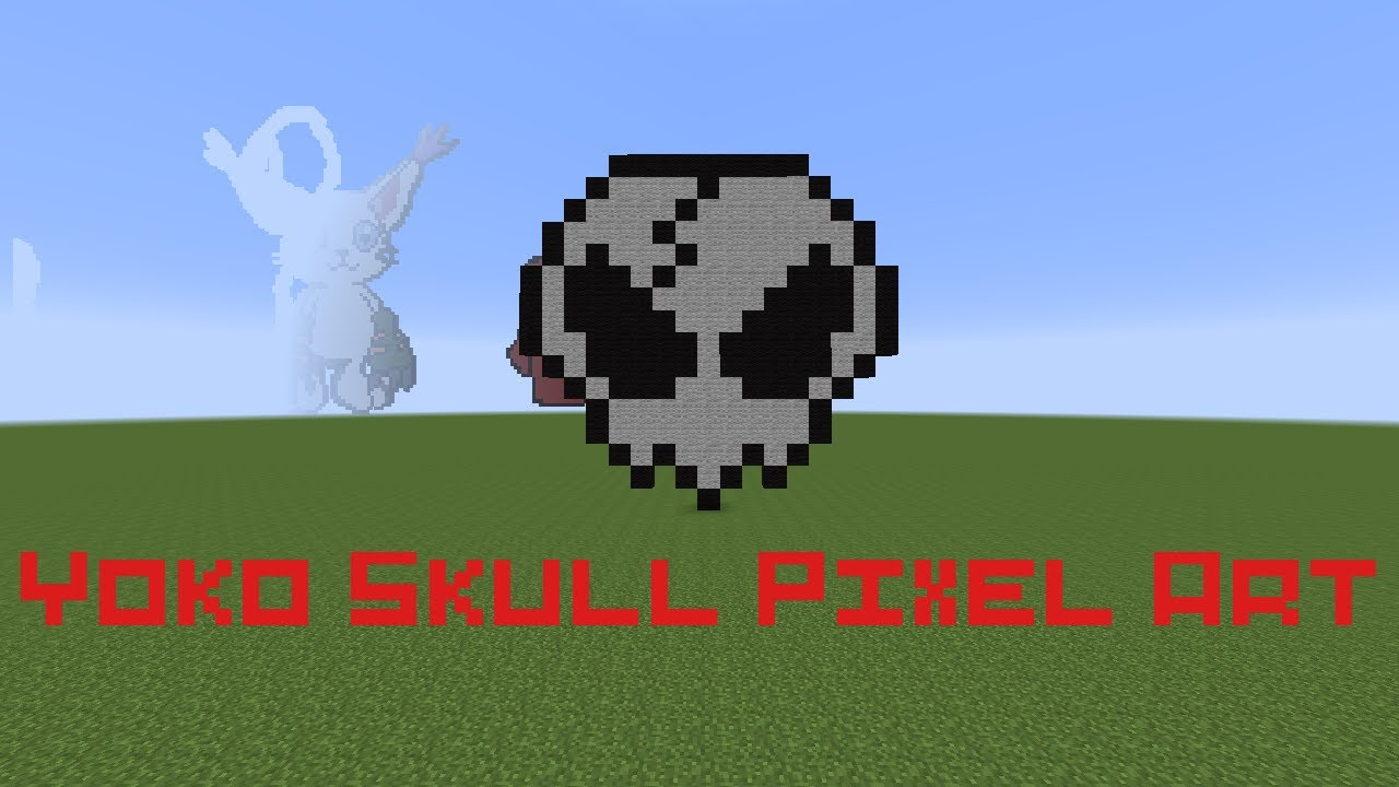 Yoko Skull Pixel Art Minecraft