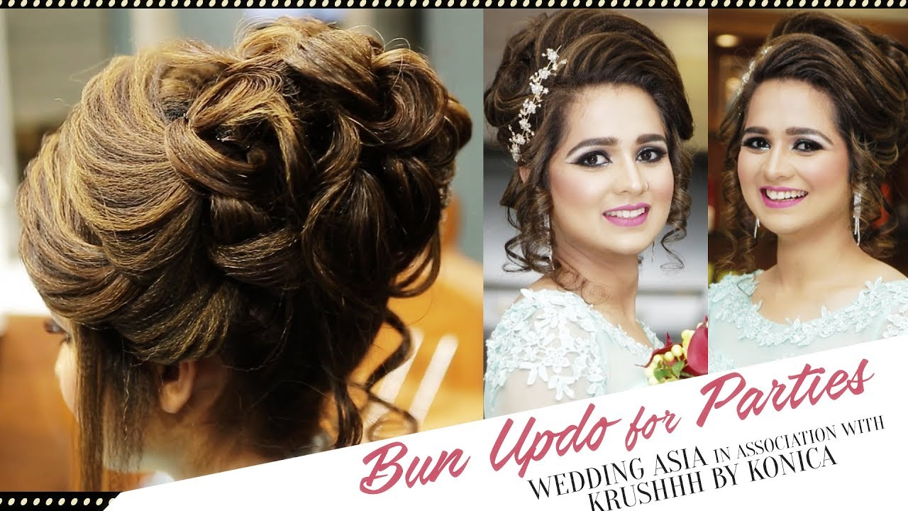 how to do bun updo for parties? | hair bun for party | beautiful hairstyles | wedding asia
