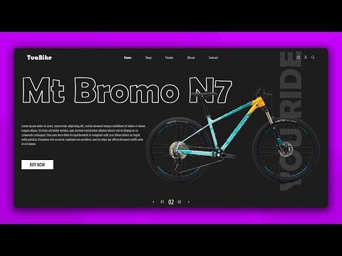How To Make Ecommerce Website Using HTML CSS & JavaScript | Bicycle Website