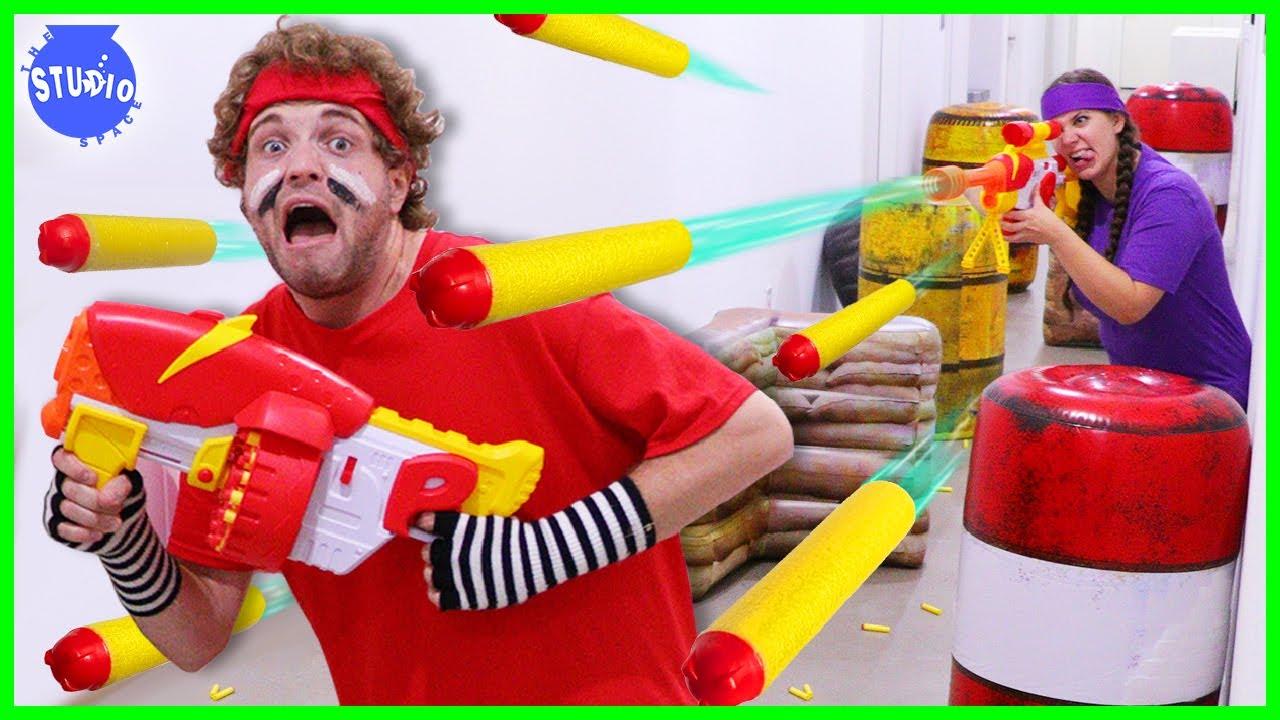 Ultimate Ryan's Dart Tag Battle with Ryan's Dart Blasters!!