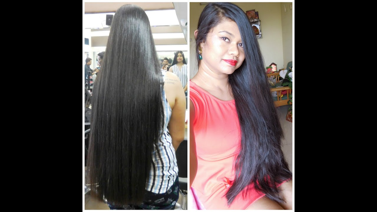 My Hair Rebonding Experience At Enrich Salon Youtube