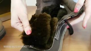 Обзор зимних ботинок АКТРУ из натуральной кожи и меха.