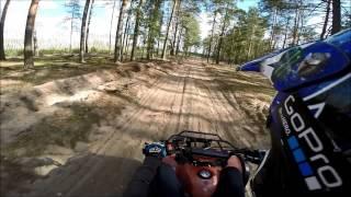 IRBIS ATV 110U/Обычный прохват по лесу.