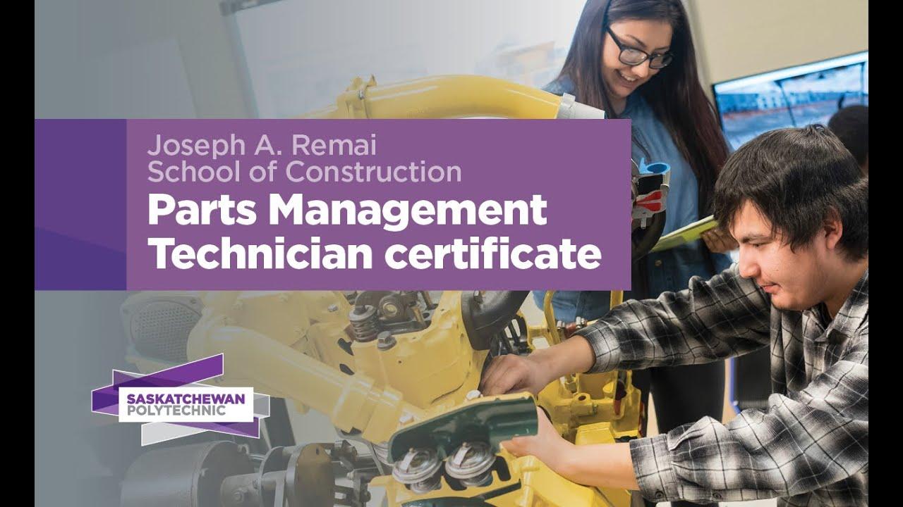 Parts Management Technician - Certificate