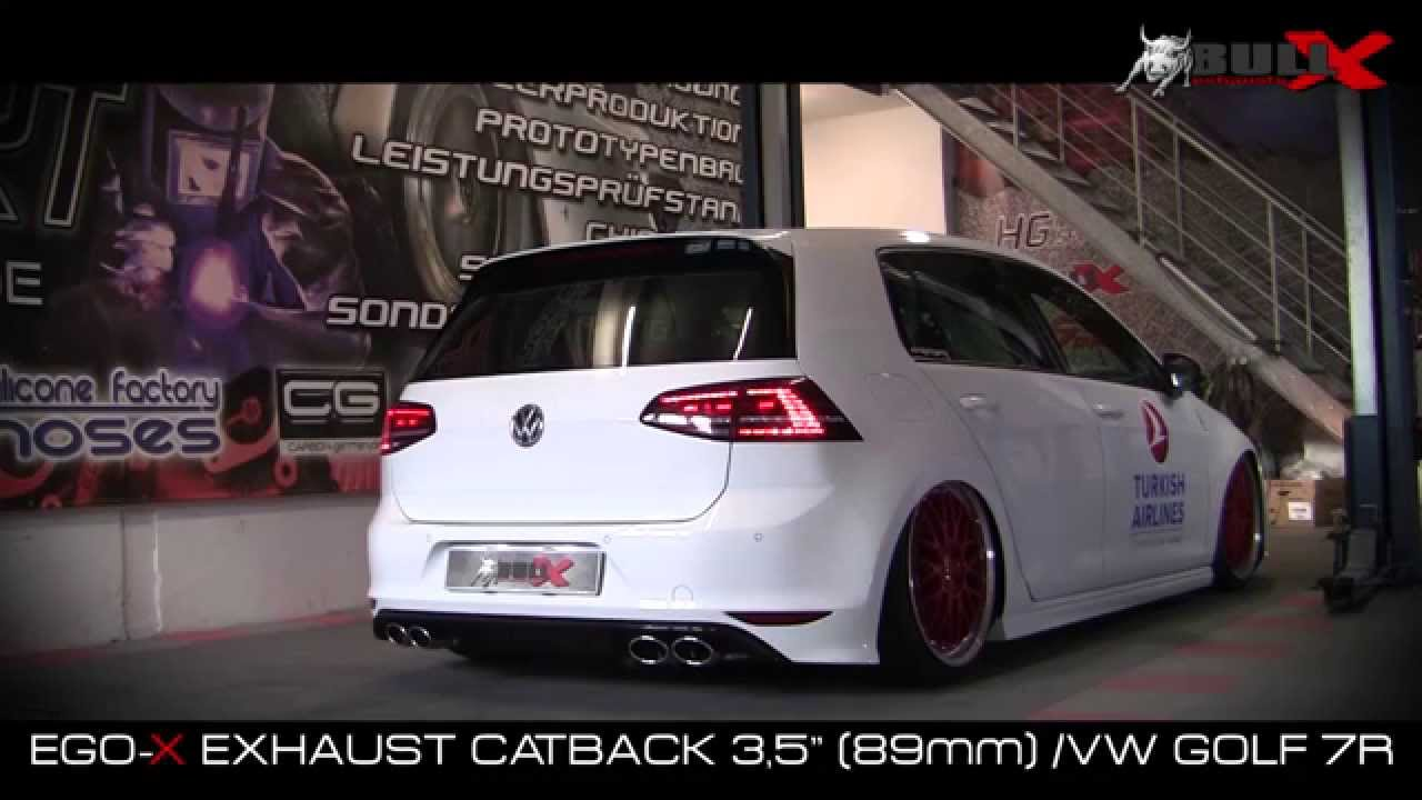 vw golf 7 r 3 5 catback 89mm ab kat exhaust sound. Black Bedroom Furniture Sets. Home Design Ideas