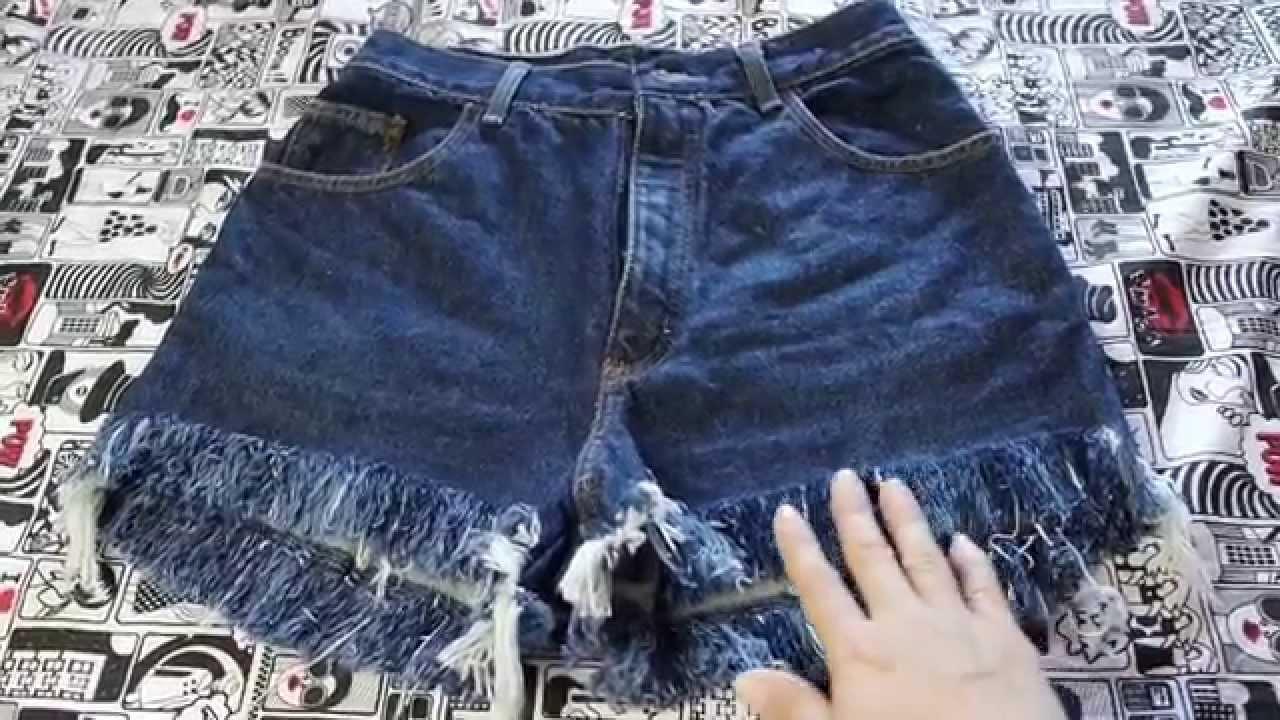 Diy: Melhor técnica para desfiar shorts jeans - Suellen