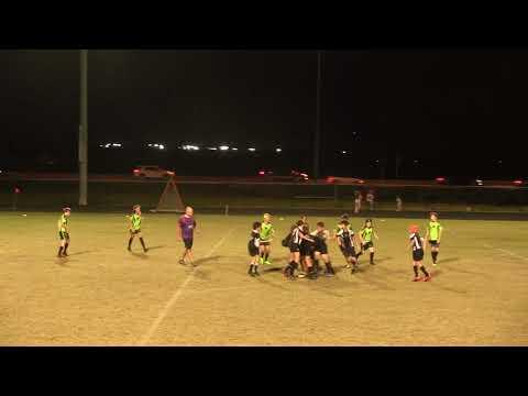 Okapi Wanderers Rugby FC U13 vs Wellington Wizards U13  01 27 2018 at Emerald Cove Middle School.