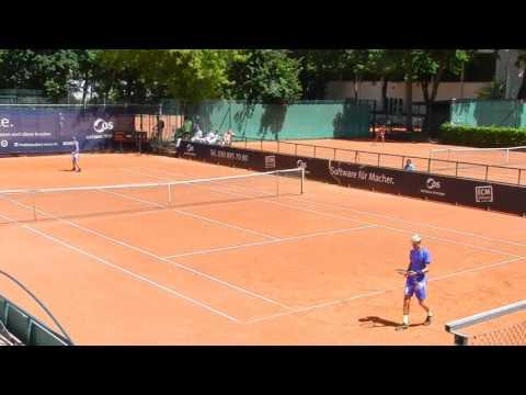 Rudi Molleker vs. Adrian Andreev Tennis in Berlin German Juniors 2017