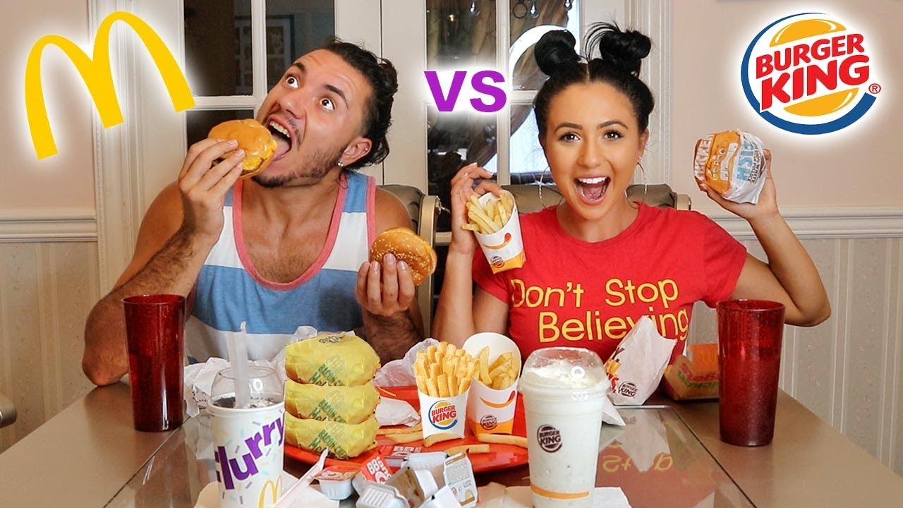 mcdonalds compared to burgerking