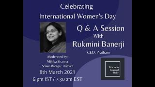 Q&A with Dr Rukmini Banerji, moderated by Mihika Sharma