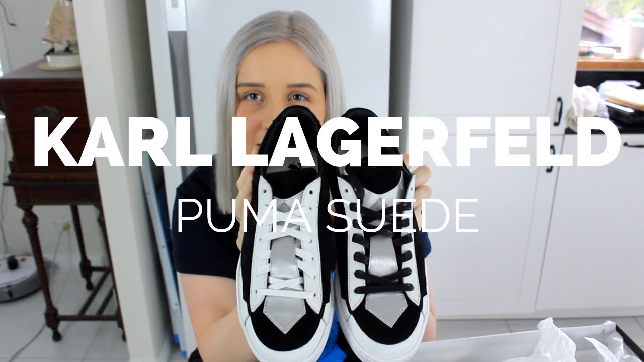 799c44e2413 Karl Lagerfeld x Puma Suede Unboxing - YouTube