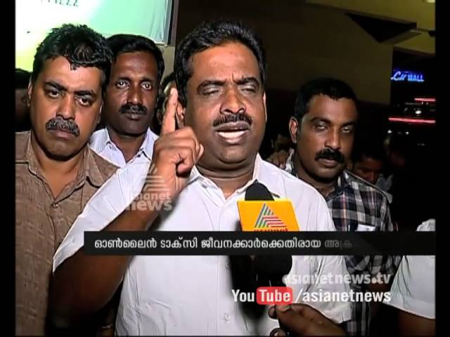 Protest of online taxi drivers in Kochi