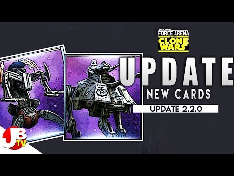Star Wars Force Arena Update AT-AP and Droidekas!!