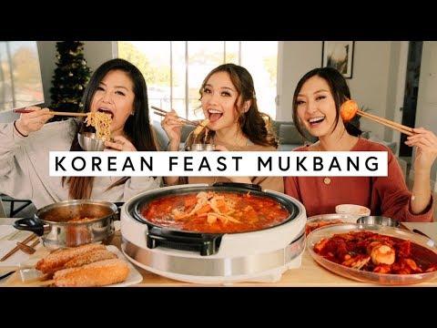 KOREAN FEAST MUKBANG ft. HyuneeEats and Sophia Chang