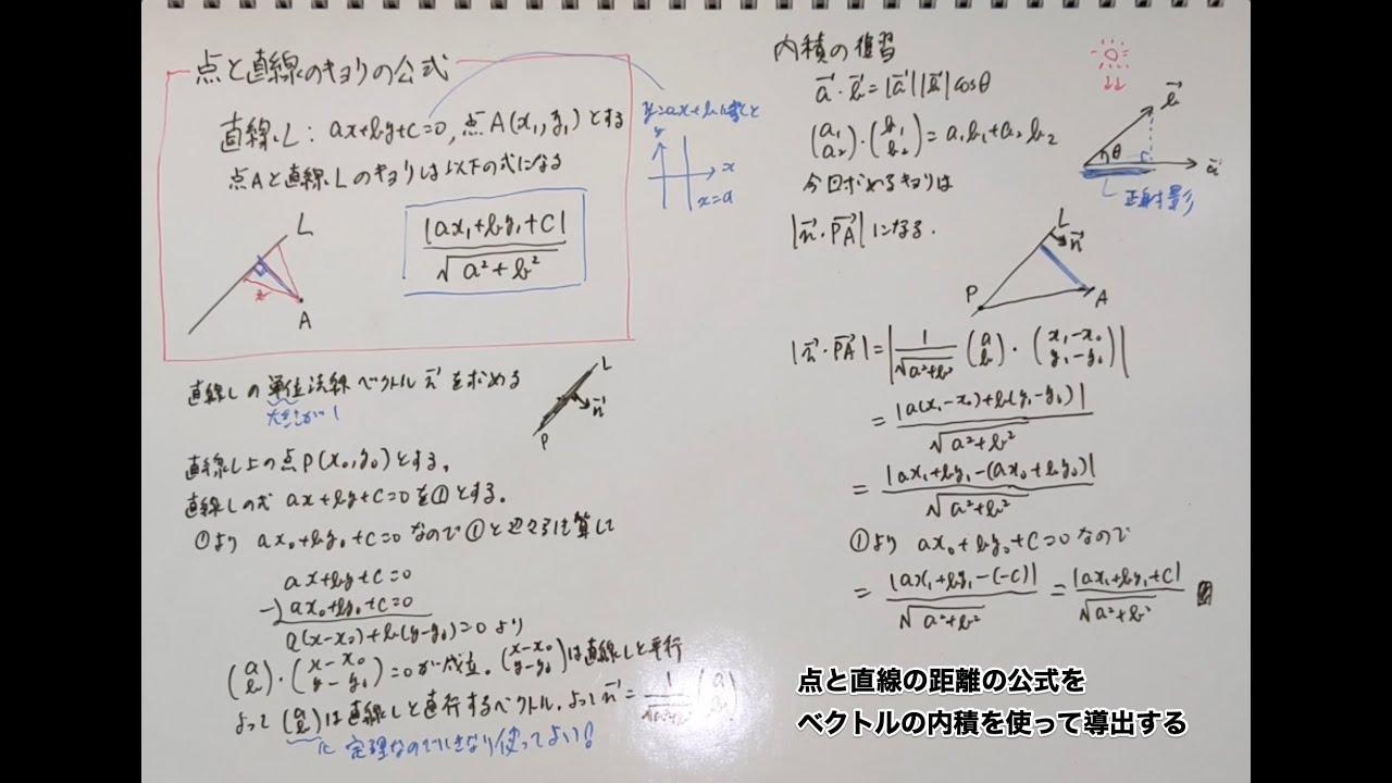 線 の 距離 点 と 曲線と点の最短距離の出し方