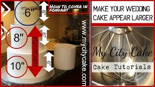 how to stack a cake