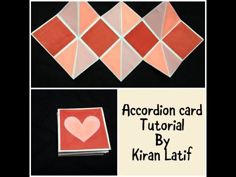 How to make an Accordion or squash card | Tutorial| Kiran Latif