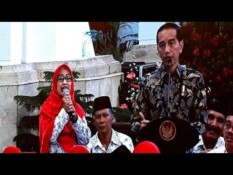 Curhat Pada Jokowi, Bu Guru Mega: 7 Tahun Mengajar Gaji Saya Rp 50-150 Ribu Pak