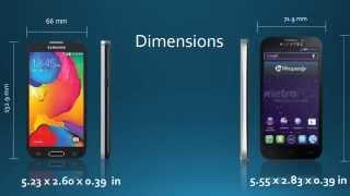 samsung galaxy avant VS alcatel one touch fierce 2 , metro PCS