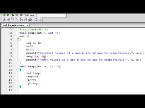 C Programming Tutorial - 49: Functions (Part-4) Call By Reference Method