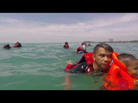Panik banana boat terbalik di laut PD