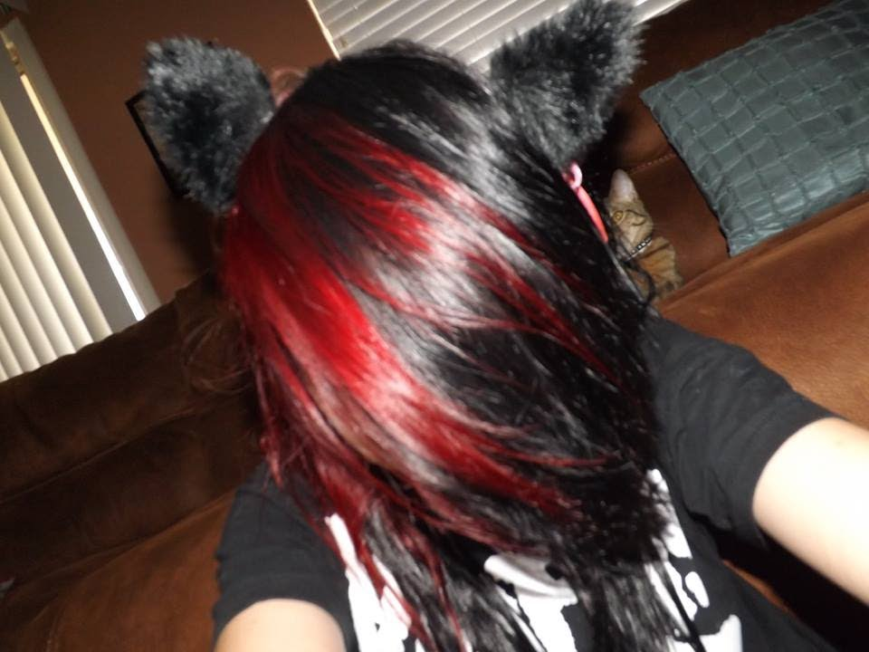 Dying My Hair Black And Red Youtube