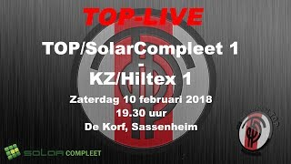 TOP/SolarCompleet 1 tegen KZ/Hiltex 1, zaterdag 10 februari 2018