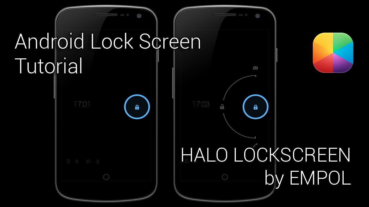 halo lockscreen by empol android lock screen tutorial youtube. Black Bedroom Furniture Sets. Home Design Ideas