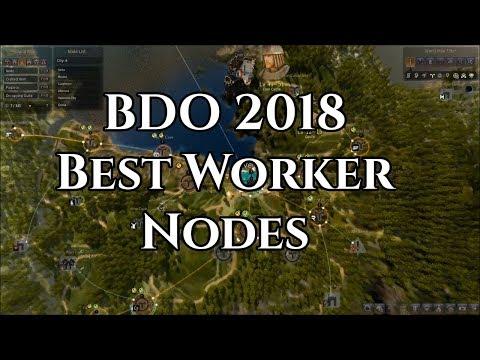 BDO 2018 Best Worker Nodes For Each Town [Black Desert Online] [Guide]