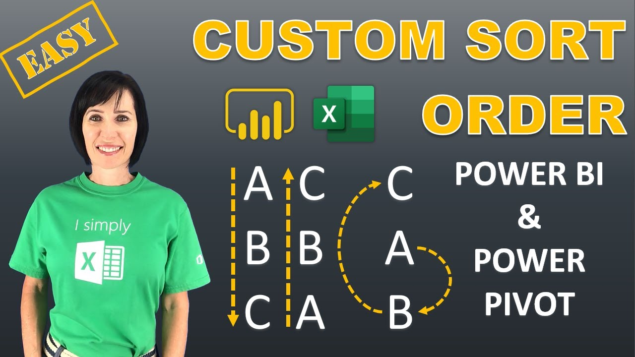 Custom Sort Order Trick in Power BI & Power Pivot