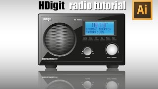 Adobe Illustrator cc tutorial (How to make HDigit Radio)