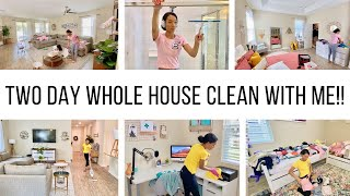 CLEANING MY ENTIRE HOUSE! // *TWO* DAY WHOLE HOUSE CLEAN WITH ME // Jessica Tull cleaning motivation