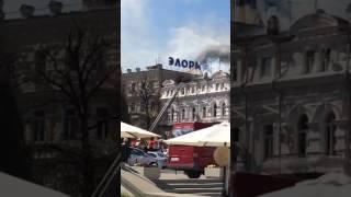В Кисловодске горит библиотека