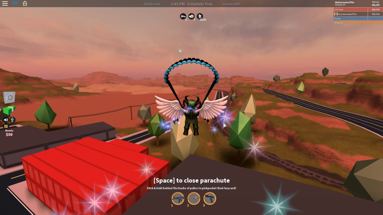 Roblox Jailbreak How To Parachute For A Long Distance