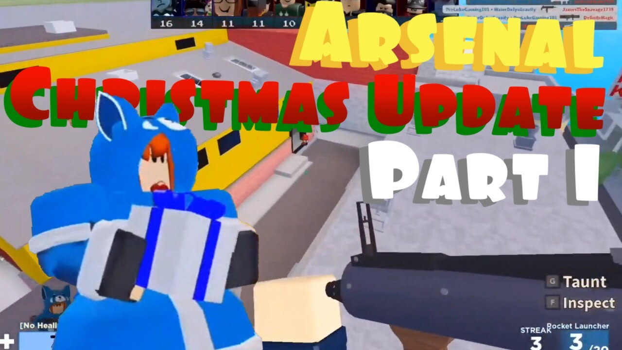 Roblox Arsenal Christmas Update Part 1 Youtube