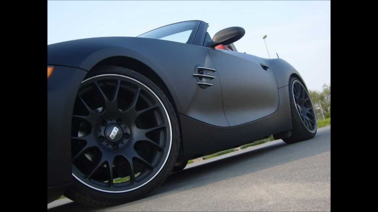 My Matte Black Devil Bmw Z4 Ac Schnitzer Bbs Ch Car Wrapping Youtube
