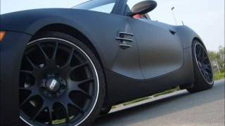 My Matte Black Devil BMW Z4 - AC Schnitzer - BBS CH- car wrapping