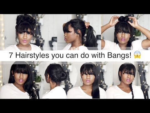 30 SECOND HAIRSTYLES YOU CAN DO WITH BANGS