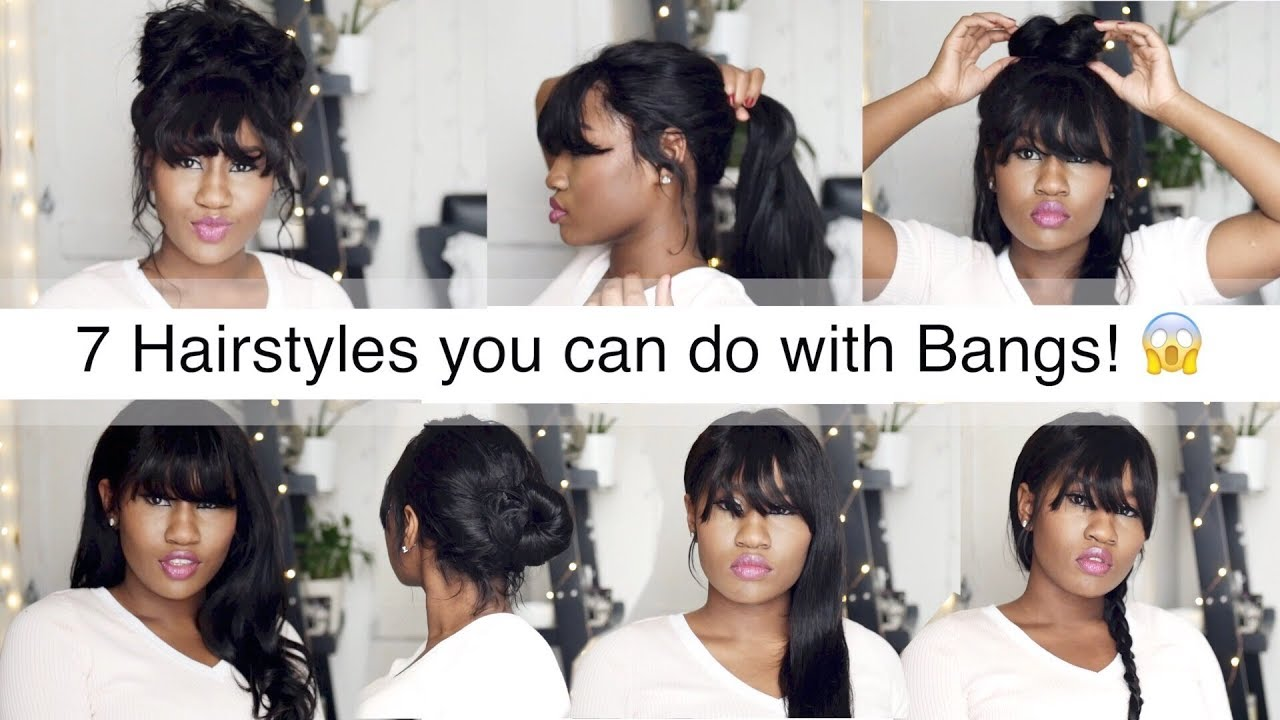 30 second hairstyles you can do with bangs | wig encounters - youtube